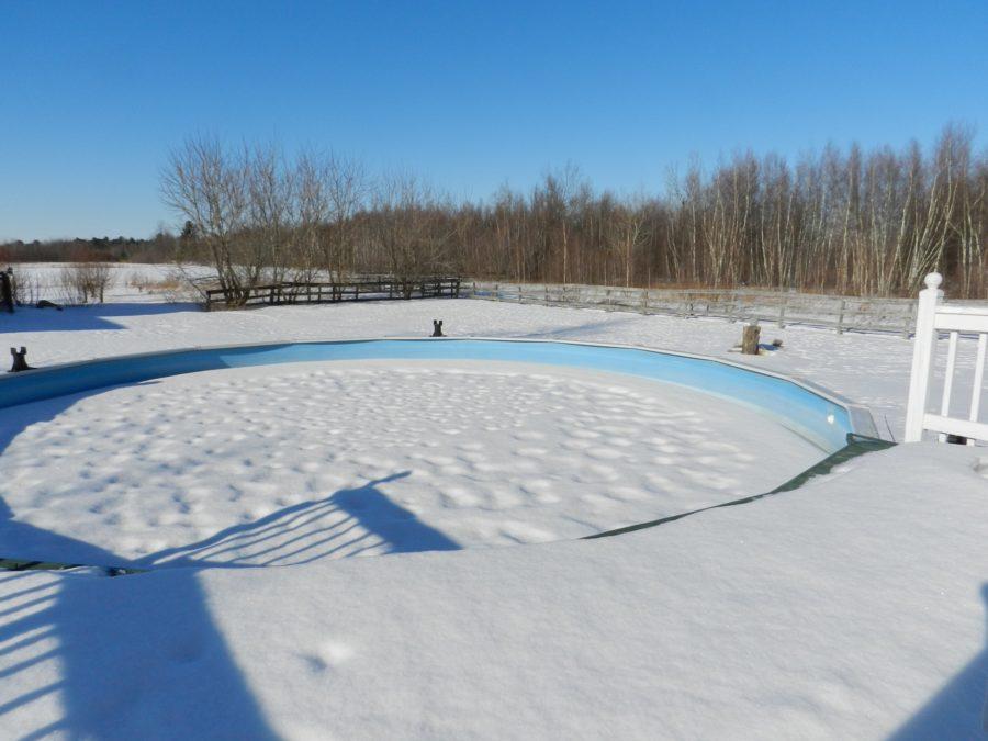 esvaziar piscina no inverno sim ou não