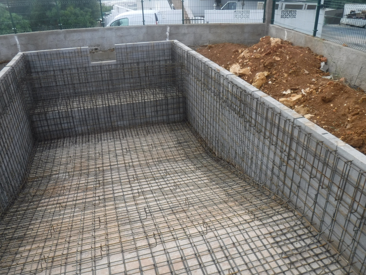 Pormenor de malha de ferro - piscinas
