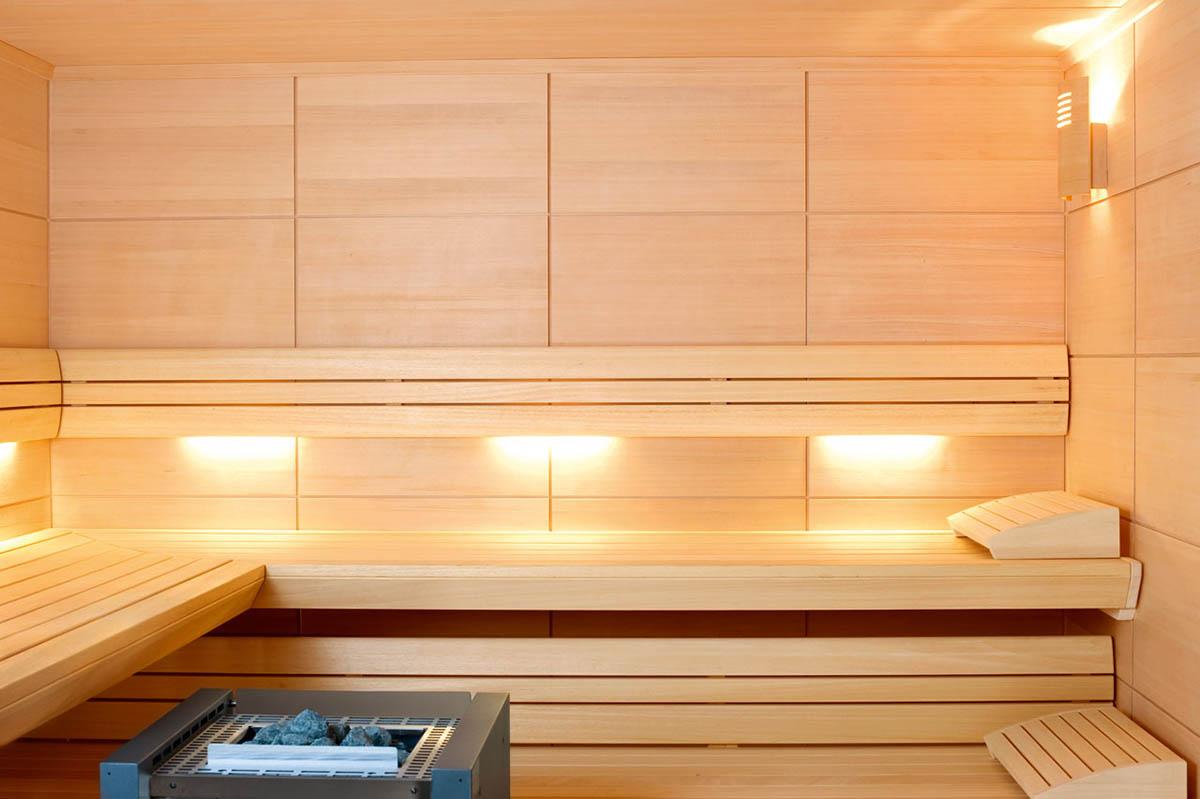 Sauna construída à medida